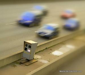 Radar à flash sur le boulevard périphérique à Paris
